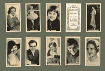 Cigarette cards 1924 Cinema Stars photographic Images set by B.A.T